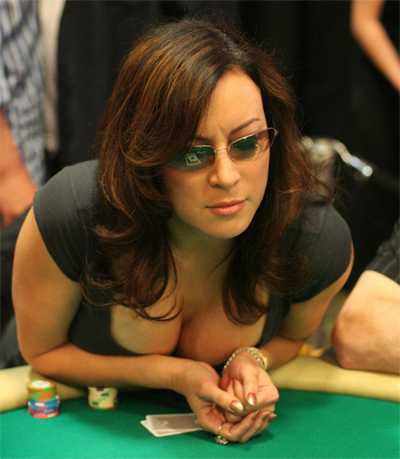 Jennifer Tilly playing poker