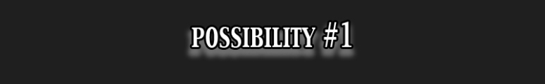 Possibility 1
